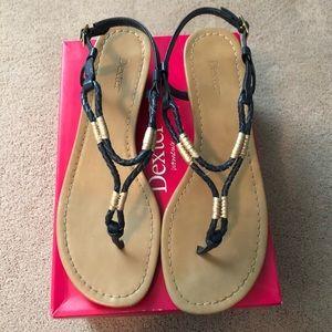 Dexter Navy Rope Gladiator Sandals